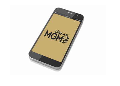 PlayMGM software loaded up on the cellphone.  Brand and style proposal.