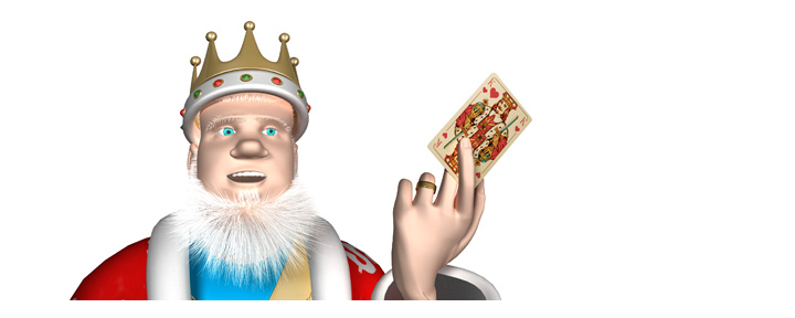 The King explains the winning hand odds when pocket aces face pocket kings.