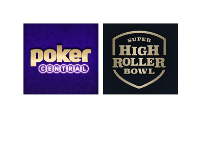 Super High Roller Bowl - Presented by Poker Central - Tournament logo - Year is 2018.