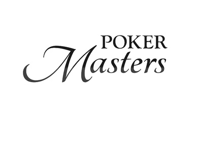 Poker Masters - Logo - Black lettering on white background.