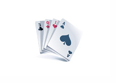 Poker Cards drawn in vector format