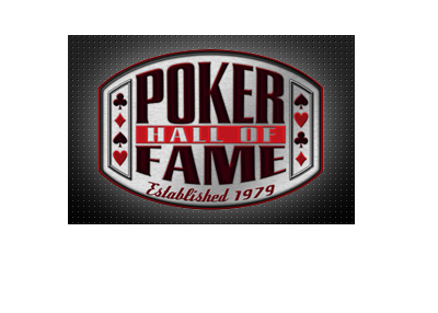 The WSOP Poker Hall of Fame - Logo on top of metalic square surface.