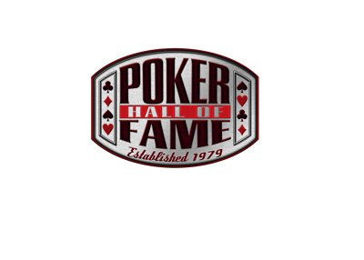 The Poker Hall of Fame logo on white background.  Isolated.