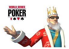 -- poker king wearing shades presenting the wsop main event which starts tomorrow --