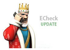 poker king is talking on his mobile phone - about echeck gaming payment processing