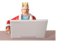 poker king surfing the web on his mac