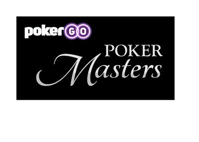 PokerGo - Poker Masters - Logo - Black background.