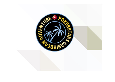 Pokerstars Caribbean Adventure - Logo on stylized background.