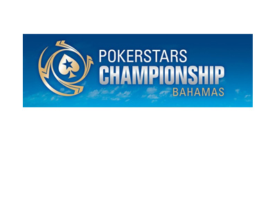 Pokerstars Championship - Bahamas - Year 2017.  Promotional graphic. Colour Blue.