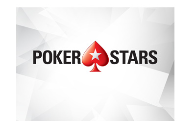 Pokerstars logo - Geometric icy background.  Year is 2017.