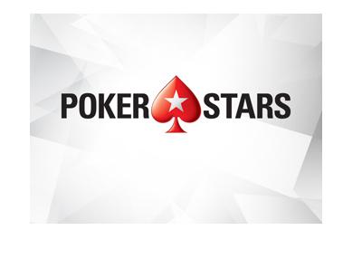 Pokerstars logo - Geometric icy background.  Year is 2017.