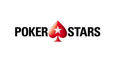 The 2017 version of the Pokerstars logo - Horizontal with the spade in the middle.