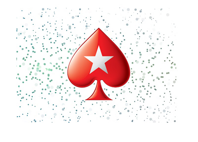 Pokerstars logo with stars in the background.  Year is 2018.