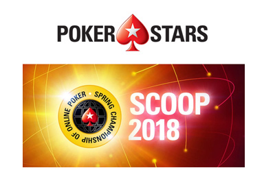 Pokerstars Spring Championship of Online Poker - SCOOP - 2018 edition - Promo graphic.