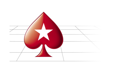 Pokerstars spade symbol in a 3d room environment.