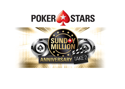 Year is 2018 - Pokerstars - Sunday Million Anniversary - Take 2 - Promotion.
