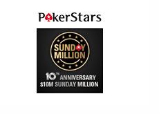 Pokerstars Sunday Million  $10M Guaranteed Tournament