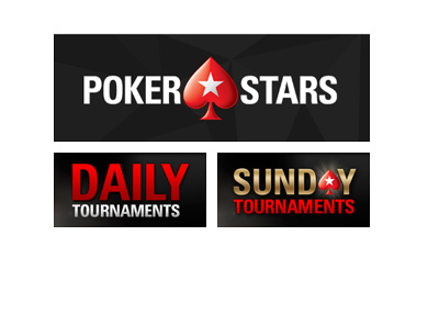 Pokerstars new logo in black.  Daily and Sunday tournaments