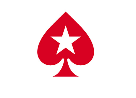 Pokerstars branding - Red spade logo with star in the middle