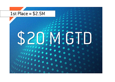 The biggest online tournament guarantee to date.  partypoker Millions - $20m GTD.