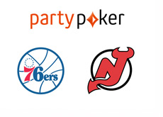 Party Poker - Philadelphia 76ers and New Jersey Red Devils - Logos