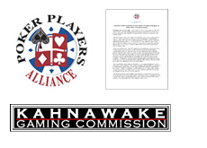 poker players alliance - kahnawake gaming commission - statements