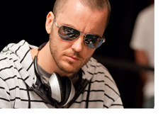 Prehlad Friedman - Reflective sunglasses and headphones - Shot taken at the WSOP 2010