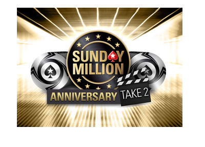 Pokerstars Sunday Millions Anniversary - Take 2 - Tournament logo / graphic - April 22, 2018.