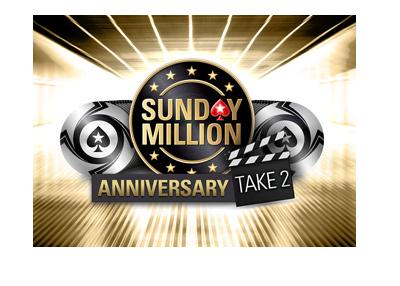 Pokerstars Sunday Millions Anniversary - Take 2 - Tournament logo / graphic - April 22, 2018.
