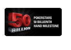 Pokerstars 50 billionth hand promotion