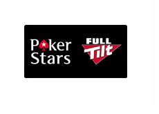 Pokerstars and Full Tilt Poker - Logos on black background
