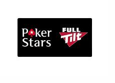 Pokerstars and Full Tilt Poker - Logos on black background