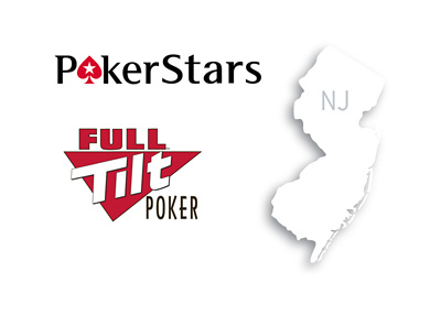 Pokerstars, Full Tilt Poker - Map of New Jersey state - USA