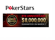 Pokerstars Sunday Million - 8th Anniversary - 8 Million