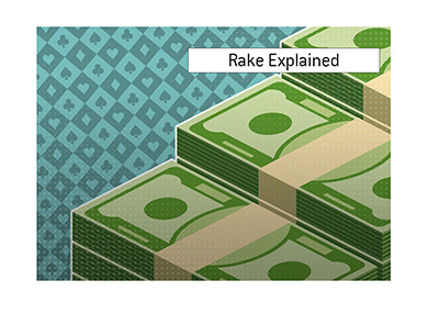 Rake is how poker rooms make their money for the service that they provide.