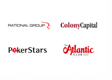Rational Group, Pokerstars, Colony Capital LLC and the Atlantic Club company logos