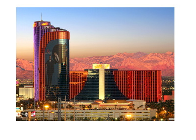 Rio Hotel - Las Vegas - Photographed at dusk on a clear day.