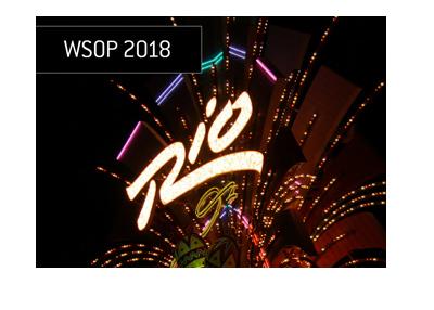 Rio Hotel Las Vegas - Home of the 2018 World Series of Poker - Night light display.