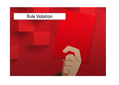 A popular poker player is in clear violation of the streaming platform rules.