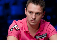 Sam Trickett at the WSOP 2010 - Wearing  a pink shirt