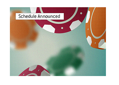 Spring poker tournament schedule announced - Falling Chips - Illustration.