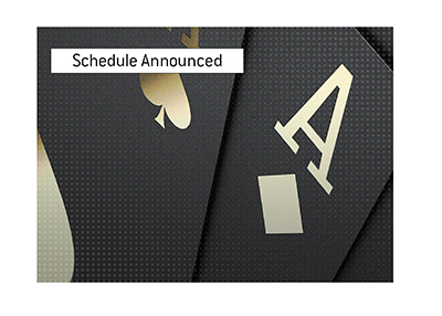 The extensive schedule for the summer tournament has been announced.