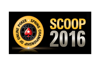 Pokerstars Spring Championship of Online Poker - SCOOP 2016 logo - Black background