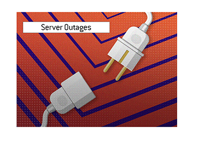 Server outages are a persistent problem in the online poker world, especially in recent months.