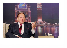 Sheldon Adelson - Vegas Backdrop Photo