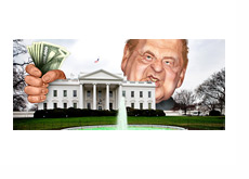 Sheldon Adelson and White House - Illustration