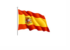 Wavy Spanish Flag Illustration