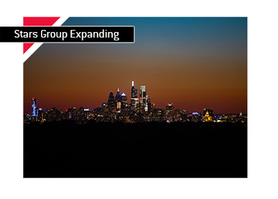 The Stars Group is attempting an expansion to the Pennsylvania market.  Photographed is the city of Philadelphia at night.  City skyline.