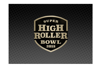 The Super High Roller Bowl 2018 - Dark Gradient background with logo on top.