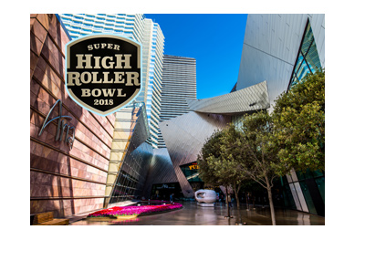 The Super High Roller Bowl at the Aria Casino in Las Vegas, Nevada.  Year is 2018.